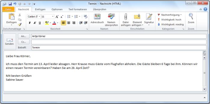 Halbformell E-mail